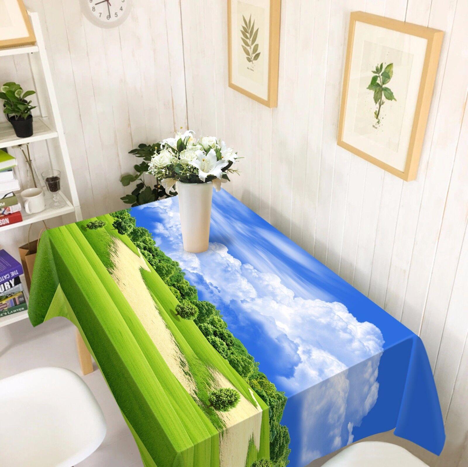 3D Meadow 61 Nappe Table Cover Cloth fête d'anniversaire AJ papier peint Royaume-Uni Citron