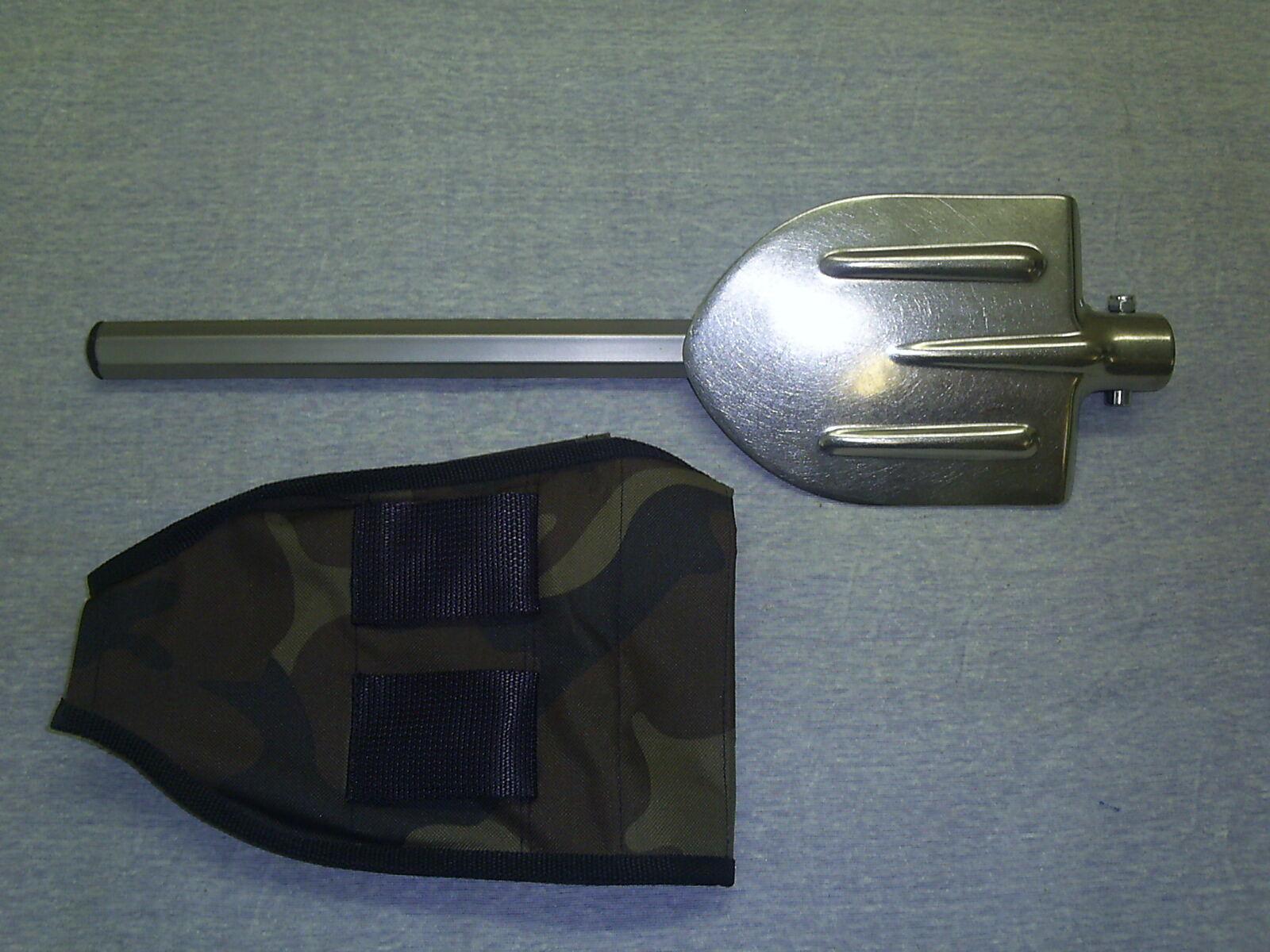 Shovel Folding Camping Survival Military Titanium Fullmetal Tool +POUCH +POUCH Tool 723d88