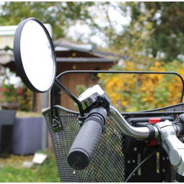 Fahrradspiegel, Kunststoffhalterung,Fahrrad Rück Spiegel Halterung Zubehör, rund