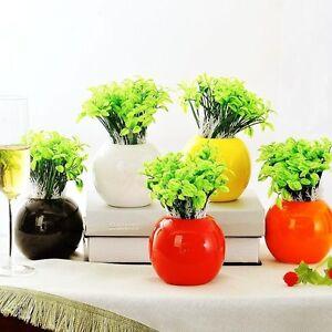 Creative-Flower-Pot-Ball-Vase-Ceramic-Vases-7-Color-9-5cm-Home-Garden-Decoration