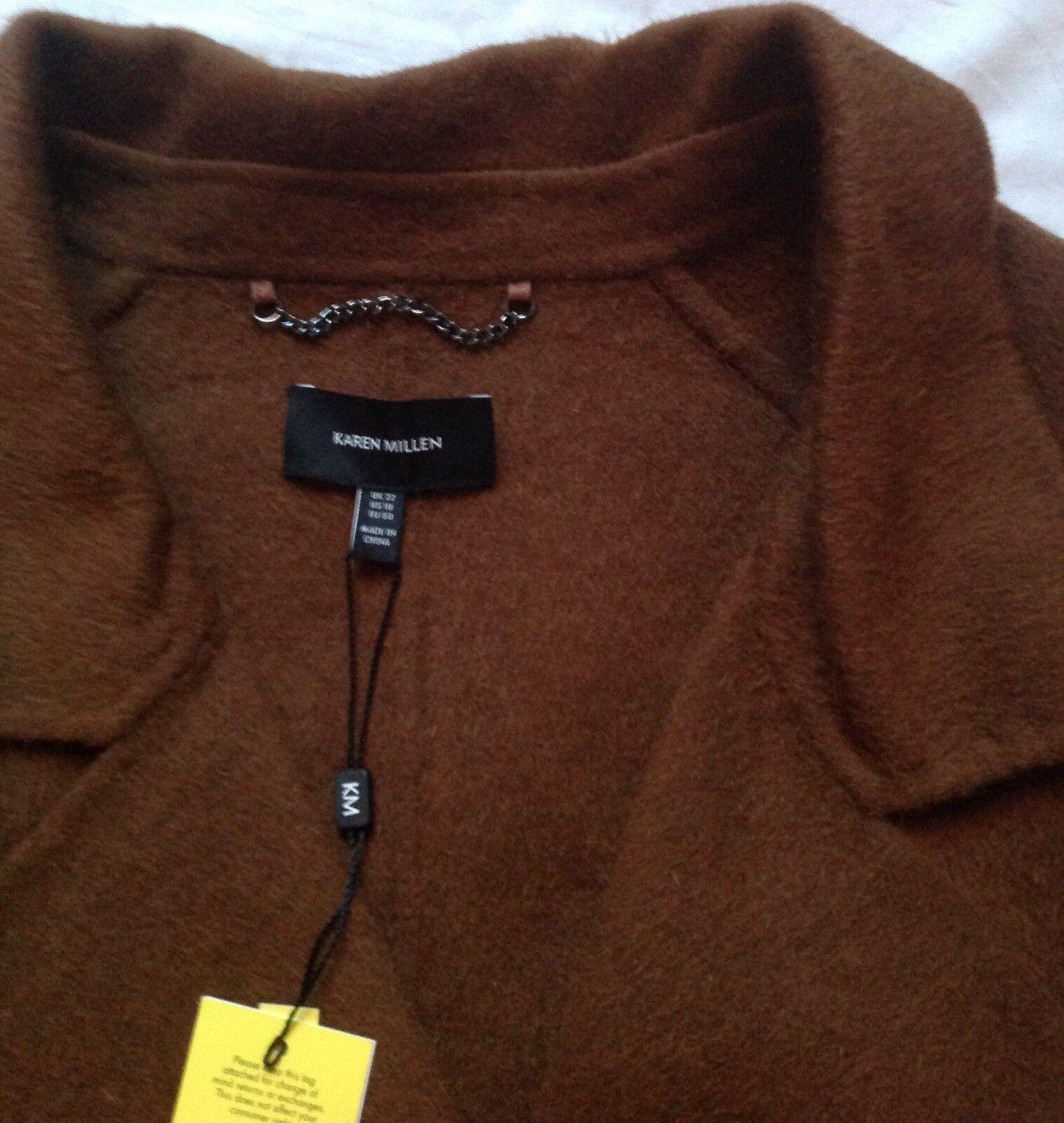 BNWT Karen Millen Wool Mix Coat Size US   18 UK   22