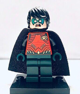LEGO DC Super Heroes Minifigure ROBIN w// DARK GREEN LEGS sh195 FAST SHIPPING