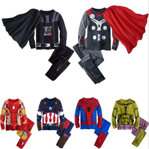 Avengers Supereroe Bambini Costume Bambini Ragazzi Bambino Costume Outfit 1-8 anni