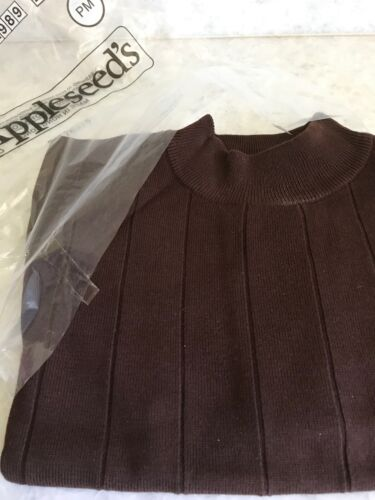 SOFT BROWN PETITE MEDIUM APPLESEED/'S MOCK NECK SWEATER BRAND NEW IN PACKAGE