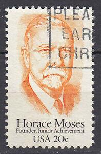 Estados unidos sello con sello 20c Horace moisés industrial sozialingenieur/3680