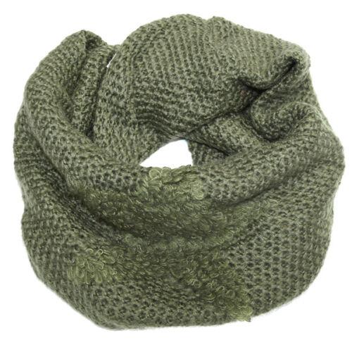 Señora bufanda pañuelo estola bufanda REDONDA scarf suéter loop estrella verde sp-600011400//lh