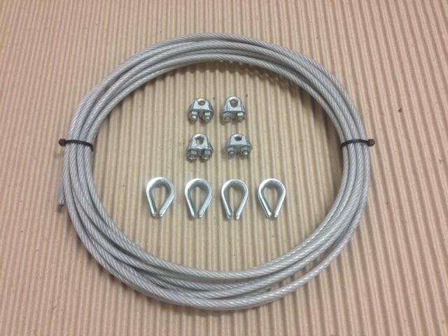 Palestra CAVO FUNE 5mm 15 nylon trasparente rivestita a 6mm 15 5mm metri e accessori cab20 322338