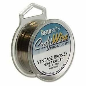 Beadsmith-Vintage-Bronze-Craft-Jewellery-Wire-Other-Sizes-0-4mm-1-2mm-ML