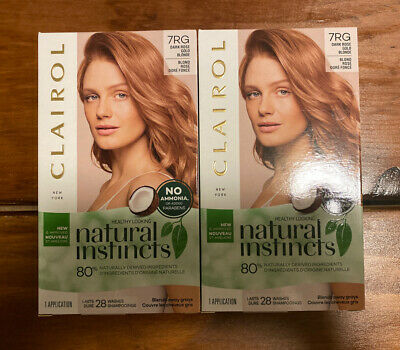 2 Clairol Natural Instincts Hair Color 7rg Dark Rose Gold Blonde 3614226794697 Ebay
