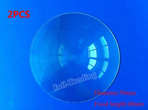 2PCS 50mm Diameter Fresnel Lens For DIY TV Projection Solar Cooker Outdoor Fire