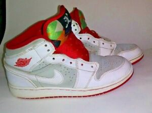 6c69717990673 Nike Air Jordan HARE 1 Retro SZ 5y Youth GS 719554-123 White Red SZ ...