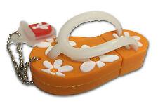 Flip Flop Sandale Orange - USB Stick / 16GB Speicher / Speicherstick Flash drive