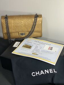 842000d3cd Image is loading 10500-VERIFIED-CHANEL-Python-Reissue-Classic-Jumbo-Double-