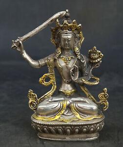 5-9-034-Tibet-Tibetan-Buddhism-Paktong-Manjuist-Wenshu-Boddhisattva-Kwan-yin-GuanYin