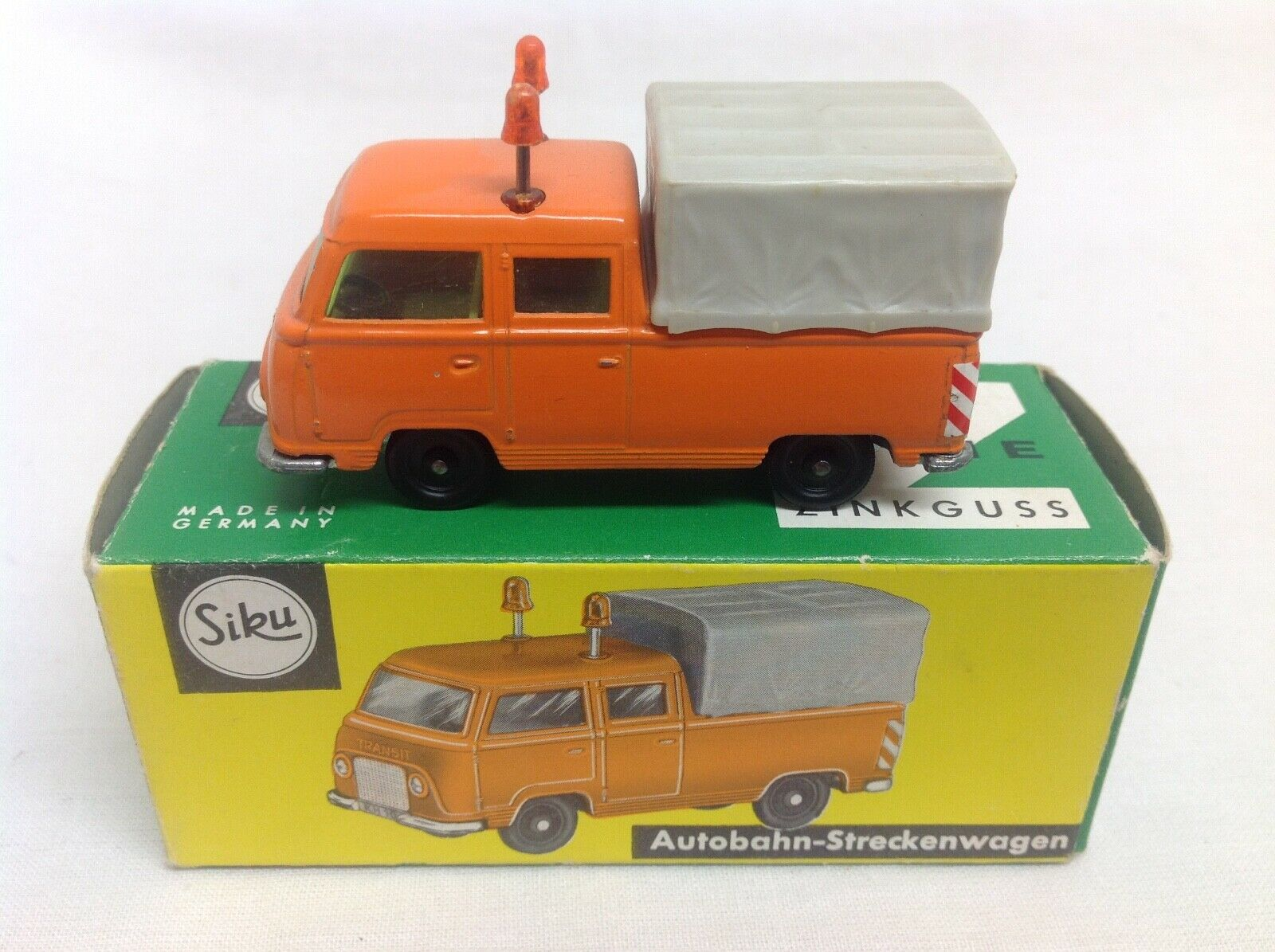 Siku v323 Ford Transit Taunus fk1000 autopista Rutas carro straßenmeisterei + Box