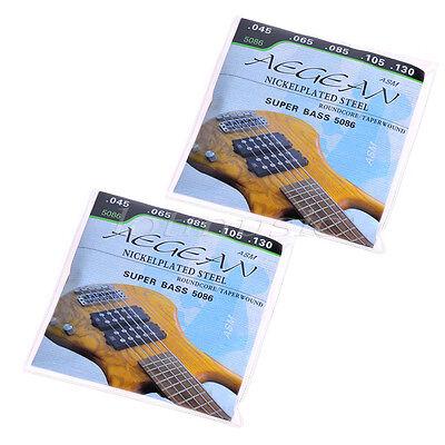2Set Nickelplated Steel 5 string Super Bass Strings Roundcore 045-130