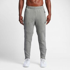 0841a62a70ab Nike Men s Jordan Shield 465 Fleece Pants NEW AUTHENTIC Grey Black ...