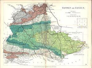 Antique-map-Surrey-and-Sussex