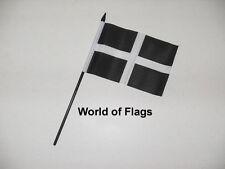 "CORNWALL SMALL HAND WAVING FLAG 6"" x 4"" Cornish County Crafts Table Desk Display"