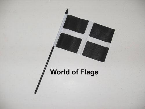 "CORNWALL SMALL HAND WAVING FLAG 6/"" x 4/"" Cornish County Crafts Table Desk Display"