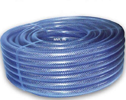 "FDA APPROVED  /<410.150x50 BRAIDED PVC CLEAR 1-1//2/"" ID x 1.94/"" OD x 50ft TUBING"