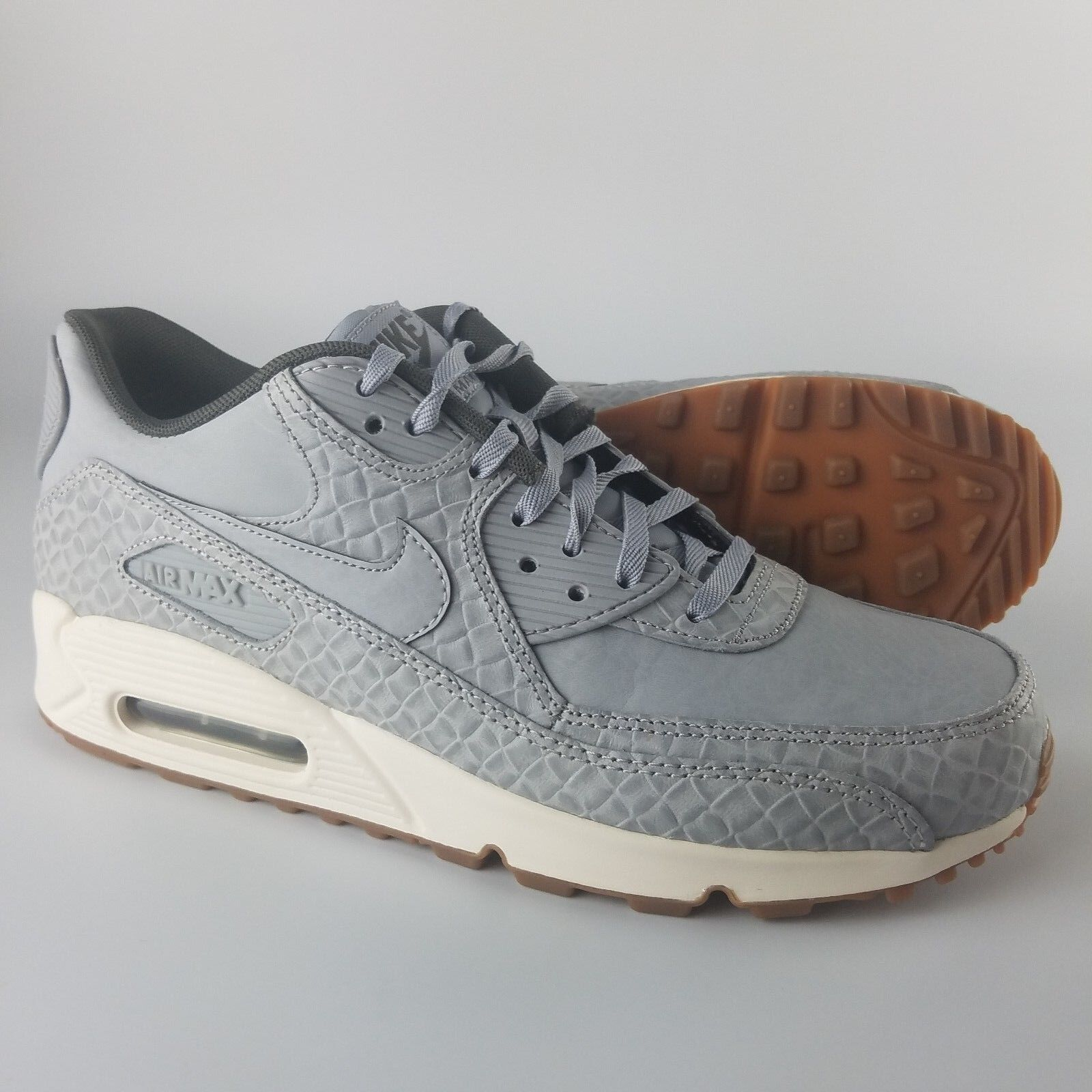Women's Nike Air Max 90 Premium Shoes SNEAKERS Size 7 Color Wolf Grey