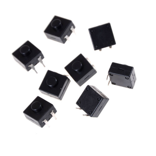 10Pcs Set 12x12x9mm Latching Tactile Push Button Switch Tact SMD PCB 2-pin UK