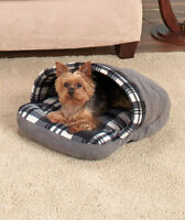 Red Grey Brown Shoe Look Pet Bed