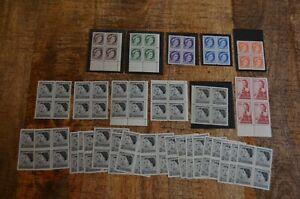 Canada Stamp Blocks 1954-1959 Queen Elizabeth II Prince Philip Royal Visit MNH
