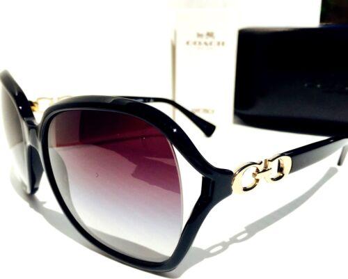 NEW* Coach  Designer L948 BLACK GOLD Kissing C/' Grey Gradient Women/'s Sunglass