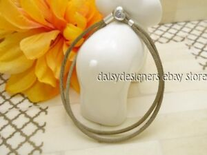 a1667184a3740 Details about NEW Authentic Pandora Silver GREY GREEN FABRIC CORD Bracelet  S1 6.3 16cm RETIRED