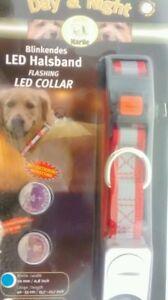 Karlie día y noche Collar De Perro Led Intermitente Hi Viz seguridad ajustar medianas, grandes  </span>