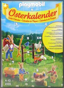 NEU-Playmobil-Ostern-4169-Osterkalender-Osterhasen-Haeschen-Hasen-10-Tuerchen-NEU