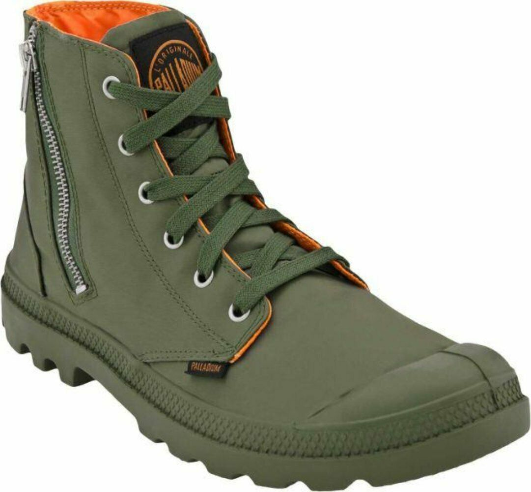 Nuevo En Caja Palladium Holgado Zip MA-1 SAGE naranja para mujer botas Para Excursionismo combate doble hacia abajo