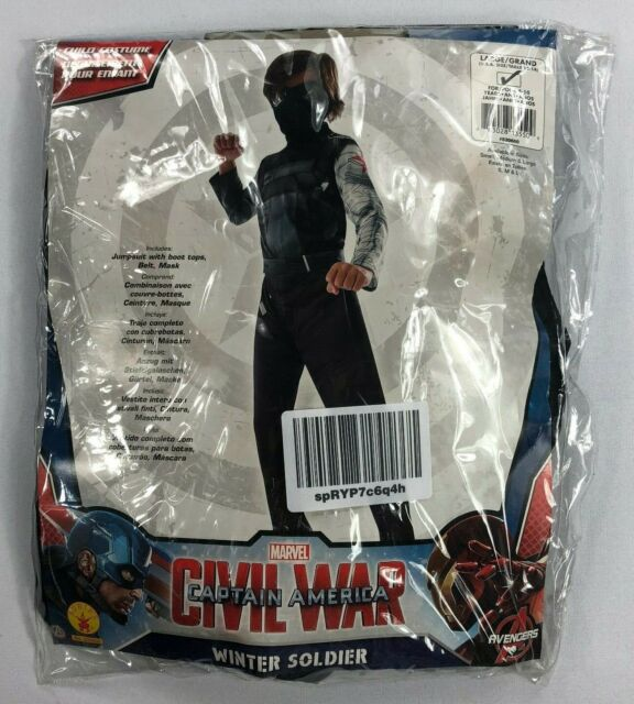 Large Civil War Winter Soldier Child Costume Rubies Costume Captain America
