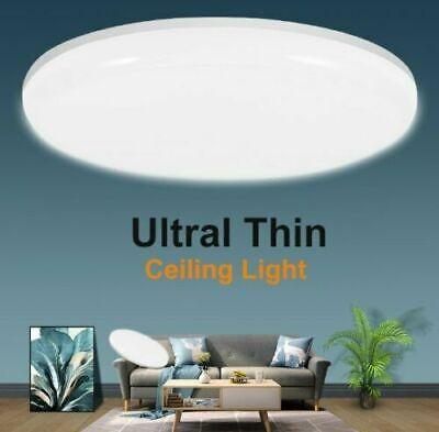 24W Warmweiß LED Deckenleuchte Deckenlampe Rund Badleuchte Wohnzimmer Küche Flur