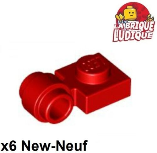 Lego x6 Flat Modified 1x1 Clip Ring Hole Ring Red//Red 4081b New
