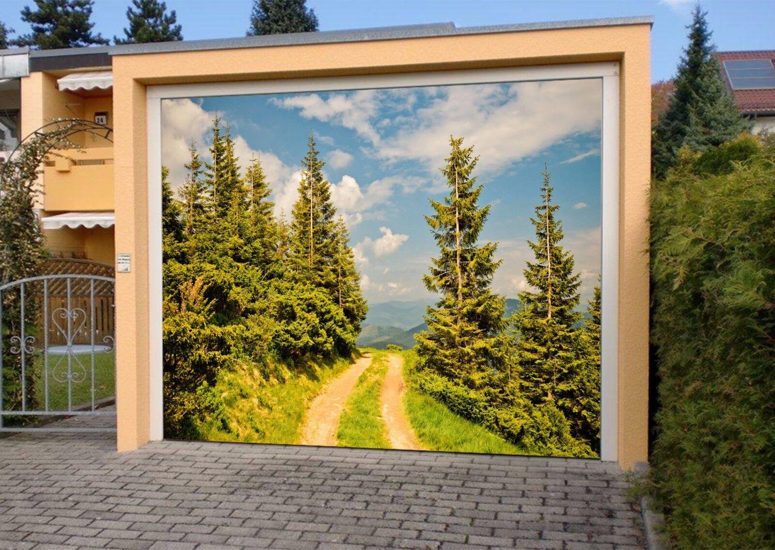 3D Cypress Sky 52 Garage Door Murals Wall Print Decal Wall AJ WALLPAPER AU Lemon