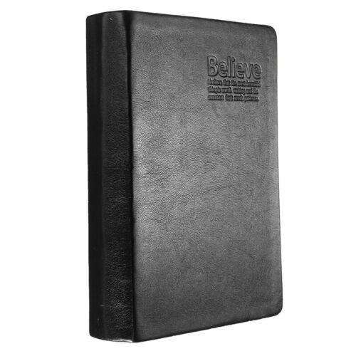 Buch Buch von Block Protokollanmerkungen Papiernotizbuch Agenda schwarz PU FC 7X