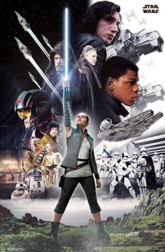 Official Character Group MOVIE POSTER STAR WARS EPISODE 8 THE LAST JEDI 2017