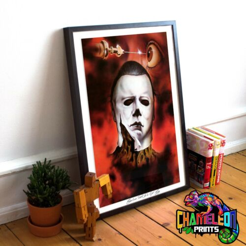 Halloween Movie Print Rare A4 A3 Jason Movie Prints Rare