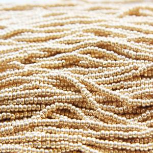 20g Czech Charlotte Seed Beads-Preciosa Rocailles 8/0 - Metallic Gold (PS6003)