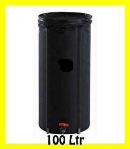 Image is loading 100-litre-Collapsible-water-storage-container -barrel-Portable- & 100 litre Collapsible water storage container barrel Portable Rain ...