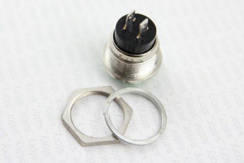 Druck Taster 16mm Schließer  230V 12V 24V 3A Schalter Hupe KFZ Klingel