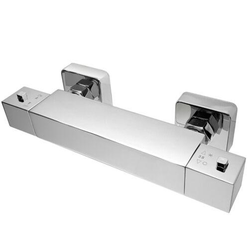 Brausethermostat Thermostat für Dusche eckig Duschthermostat Brausearmatur Bad