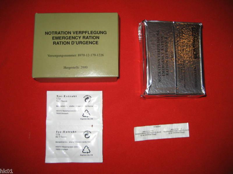 10 Lots BW BW BW Rations de survie ration avec l'eau comprimés et thé d'extrait MRE EPA 142e3d