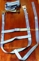 Four/4 Blue Demco Car Basket Strap Adjustable Tow Dolly Wheel Net Tire Flat Hook