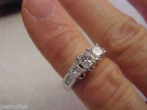 Spectacular-Princess-Cut-1-00-ctw-Diamond-Engagement-Ring-14k-wg-size-4-1-4