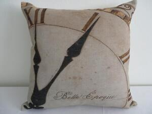 French-Country-039-Belle-Epoque-039-Clock-Linen-Look-Cushion-Cover-45cmn