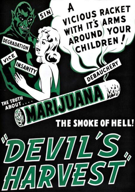POSTER PRINT MOVIE FILM ADVERT DRUG DRAMA DEVIL/'S HARVEST MARIJUANA WEED SEB060
